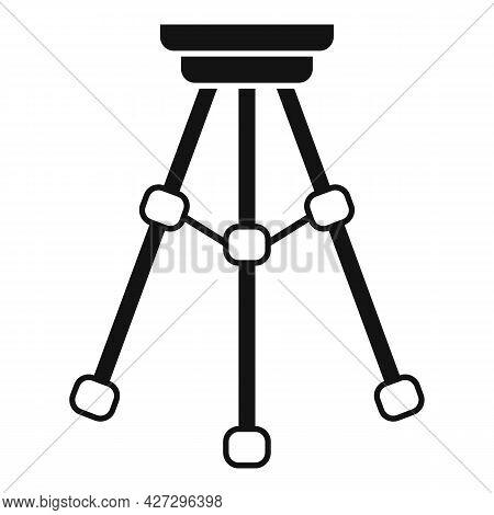 Tripod Stand Icon Simple Vector. Camera Mobile Stand. Photo Phone Tripod