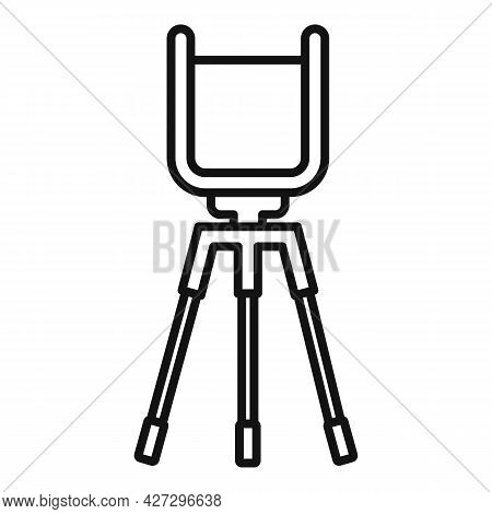 Phone Video Stand Icon Outline Vector. Mobile Tripod. Smartphone Camera Stand