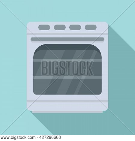 Convection Oven Icon Flat Vector. Electric Kitchen Stove. Grill Convection Oven