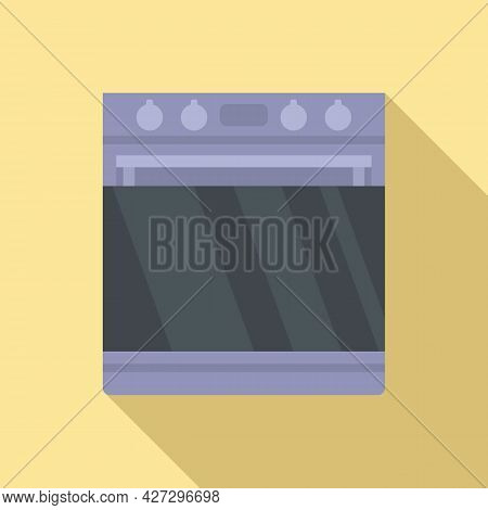Digital Convection Oven Icon Flat Vector. Electric Grill Stove. Kitchen Convection Oven
