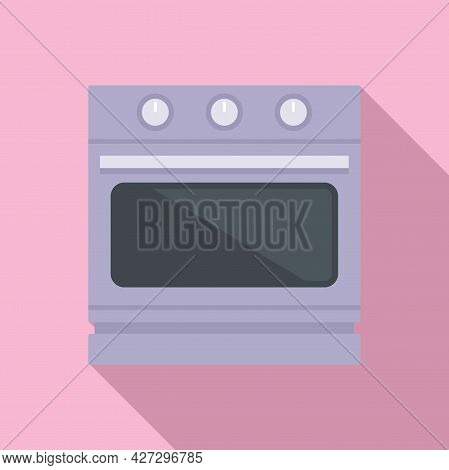 Convection Stove Icon Flat Vector. Electric Oven. Kitchen Convection Stove