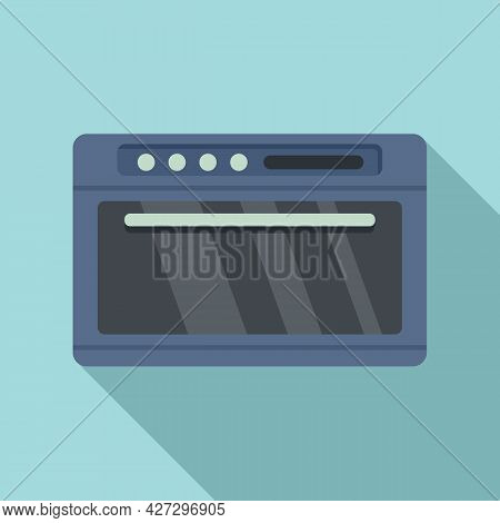 Gas Convection Oven Icon Flat Vector. Electric Grill Stove. Fan Convection Oven