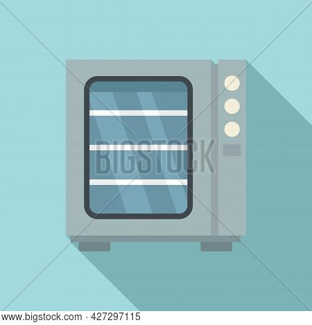Oven Convection Technology Icon Flat Vector. Gas Fan Stove. Cooking Convection Oven