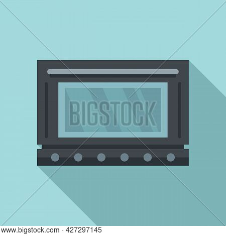 Defrost Oven Icon Flat Vector. Electric Convection Stove. Grill Gas Oven