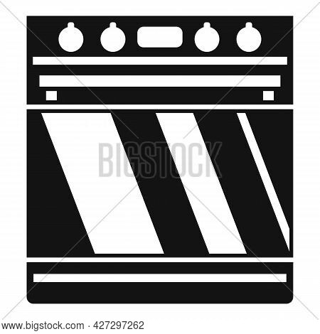 Digital Convection Oven Icon Simple Vector. Electric Grill Stove. Kitchen Convection Oven