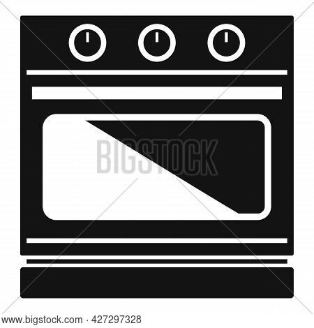 Convection Stove Icon Simple Vector. Electric Oven. Kitchen Convection Stove