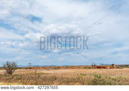 A Livestock Enclosure, Built With Rocks, Next To Road R329 Between Willowmore And Steytlerville In T