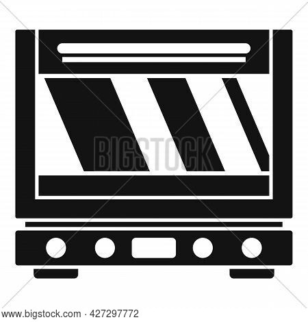 Modern Oven Icon Simple Vector. Electric Convection Stove. Gas Fan Oven