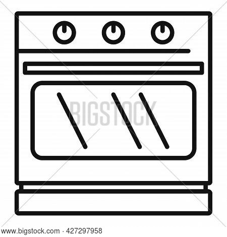 Convection Stove Icon Outline Vector. Electric Oven. Kitchen Convection Stove