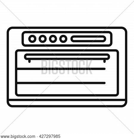 Gas Convection Oven Icon Outline Vector. Electric Grill Stove. Fan Convection Oven