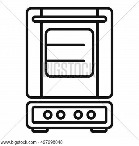 Inside Convection Oven Icon Outline Vector. Turbo Fan Oven. Kitchen Stove