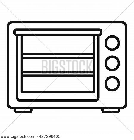 Turbo Convection Oven Icon Outline Vector. Electric Grill Stove. Gas Fan Oven
