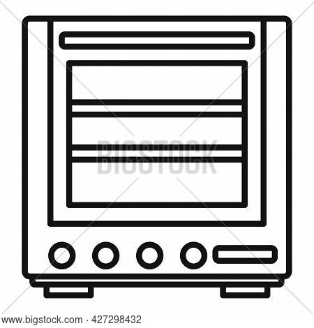 Modern Oven Icon Outline Vector. Electric Convection Stove. Gas Fan Oven