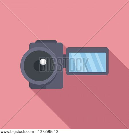 Home Camcorder Icon Flat Vector. Camera Movie. Tv Production