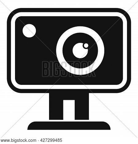 Action Camera Icon Simple Vector. Movie Camcorder. Digital Action Camera
