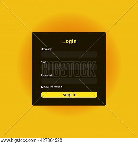 Member Login Form Interface. For Web Page, Site, Mobile Applications, Art Illustration, Design Theme
