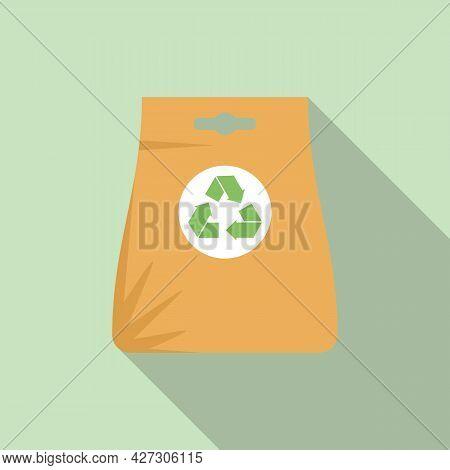 Recycle Bag Icon Flat Vector. Eco Reusable Bag. Canvas Handbag