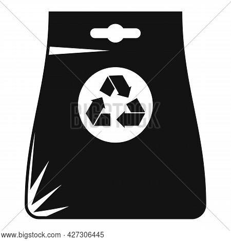 Recycle Bag Icon Simple Vector. Eco Reusable Bag. Canvas Handbag