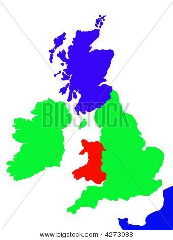 Outline Map Of United Kingdom And France