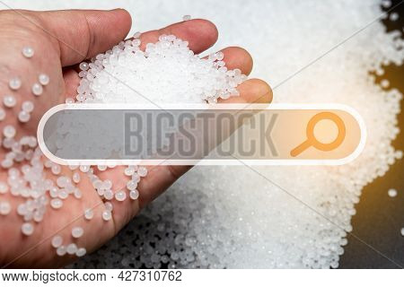 Close-up Of Plastic Polymer Granules. Polymer Plastic. Compound Polymer. Plastic Beads. Resin From P