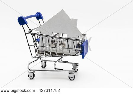 Purchase And Sale Of Housing. Mortgage For The Purchase Of A House. Rental Property. Mock Up Of A Pa