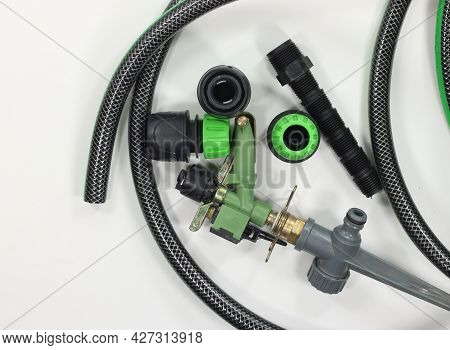 Garden Irrigation Accessories Hose And Spuzziono With Fittings