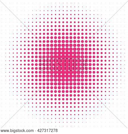 Background With Fuchsia Dots On The White