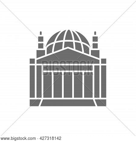 Reichstag Building, Landmark Of Berlin, German Grey Icon.