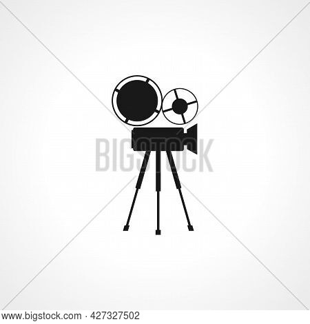 Retro Cinema Icon. Retro Cinema Isolated Simple Vector Icon.