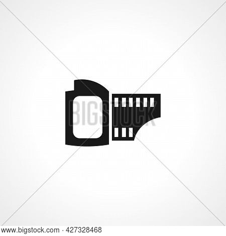Photographic Tape Icon. Old Photographic Tape Isolated Simple Vector Icon.