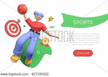 Sports Faculty Student - Colorful 3d Style Banner With Place For Your Text