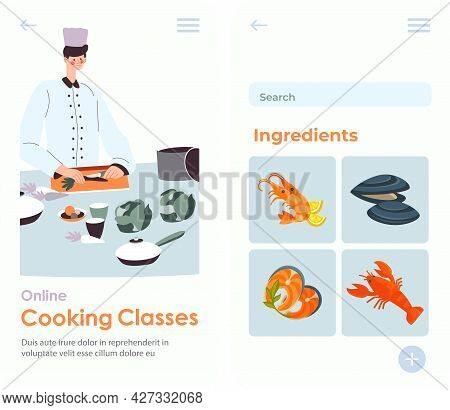 Cooking Classes, Chef Preparing Food For Students