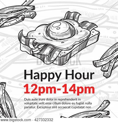 Happy Hour In Cafe Or Bistro, Sandwich Discount