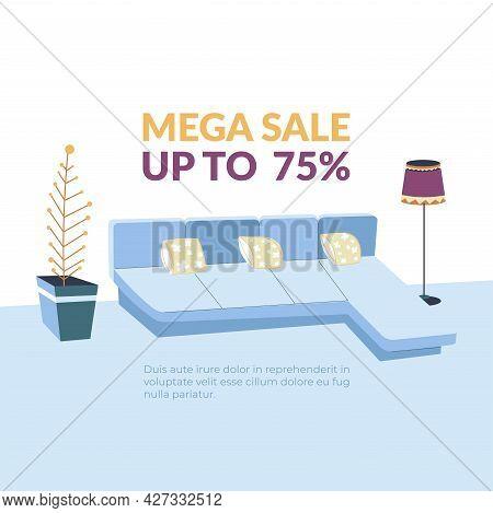 Furniture Shop Mega Sale Up To 75 Promo Banner