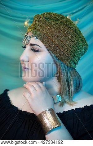 Portrait Of Eastern Woman Closeup. Arabian Woman.