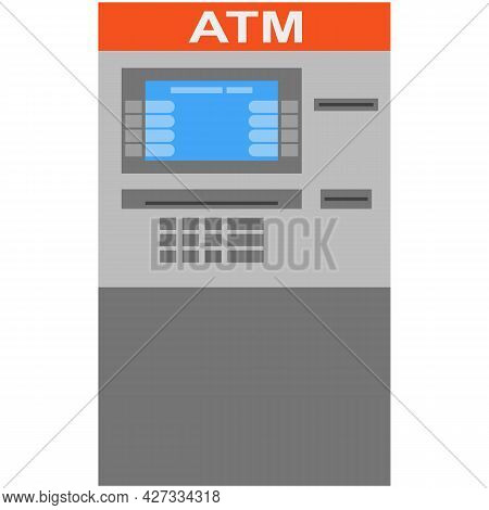 Atm Machine Vector Money Cash Terminal Icon Isolated