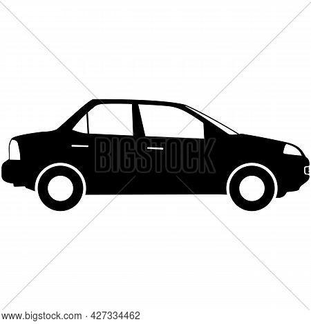 Car Silhouette Vector, Auto Icon, Automobile Illustration