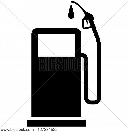 Gas Station Icon Fuel Pump Petrol Service Vector Silhouette