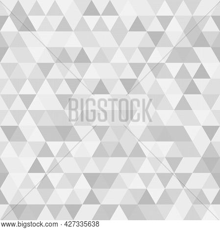 Geometric Vector Pattern With Triangles. Geometric Modern Ornament. Seamless Abstract Light Backgrou