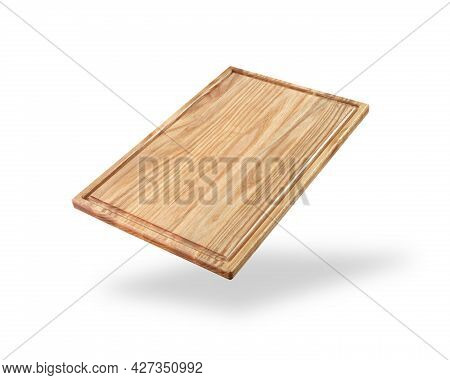 Light Wooden Cutting Board Isolated On A White