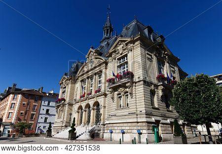 Suresnes Town Hall . It Is Municipality Of The Department Hauts-de-seine In The Region Ile-de-france