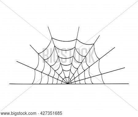 Cobweb Icon Isolated On White Background. Spider Web Texture, Element For Halloween Party Decoration