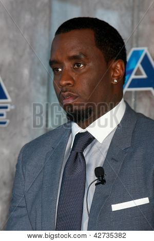 LOS ANGELES - FEB 26:  Sean Combs at the Aqua Hydrate Press Conference at the Private Location on February 26, 2013 in West Hollywood, CA