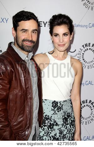 LOS ANGELES - FEB 27:  Jesse Bradford, Carly Pope arrive at the PaleyFest Icon Award 2013 at the Paley Center For Media on February 27, 2013 in Beverly Hills, CA