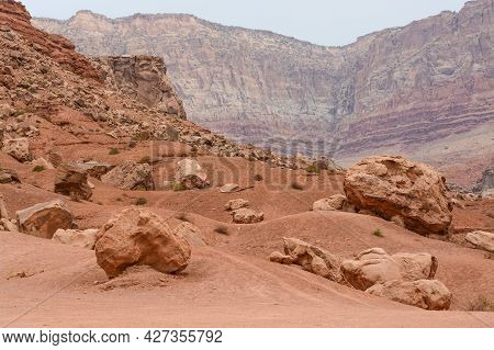 Boulder Field, Rock Formations In Vermilion, Arizona