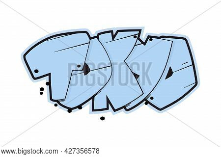 Tokyo Vector Text. Graffiti Style Hand Drawn Lettering. Can Be Used For Printing On T Shirt And Souv