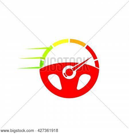 Car Steering Wheel  Logo Icon Vector Illustration