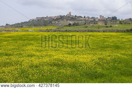 General View Of Trujillo Medieval Town From West Outskirts. Caceres, Extremadura  Spain