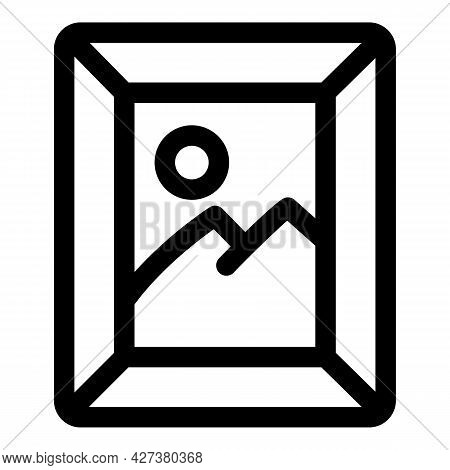 Mountain Wall Picture Icon. Outline Mountain Wall Picture Vector Icon For Web Design Isolated On Whi