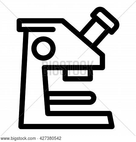 Laboratory Microscope Icon. Outline Laboratory Microscope Vector Icon For Web Design Isolated On Whi